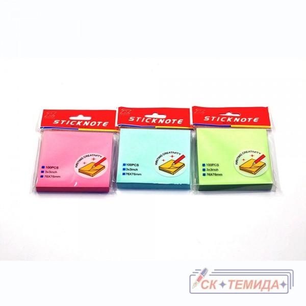 Кубчета самозалепващи 76/76 100 листа пастел