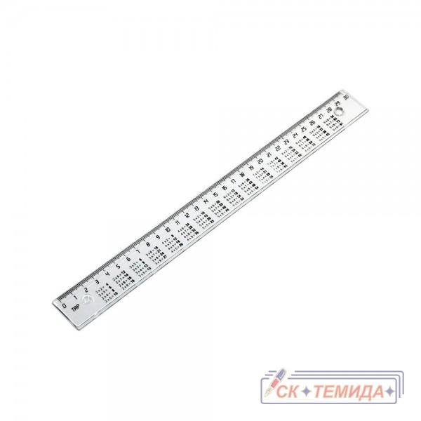 Линия 30 сантиметра с таблица