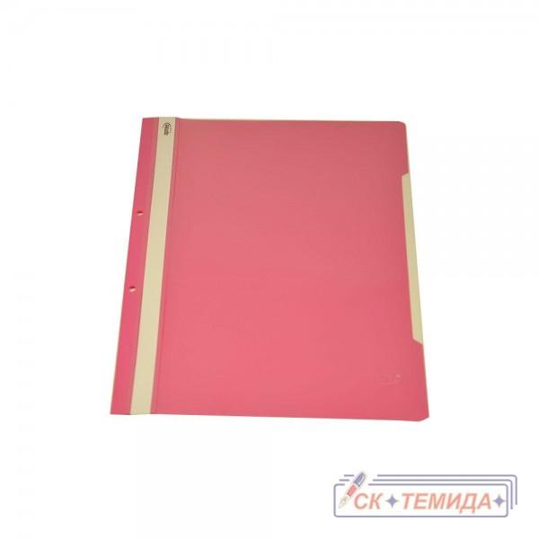 Папка PVC с перфорация розова
