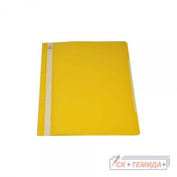 Папка PVC с перфорация жълта