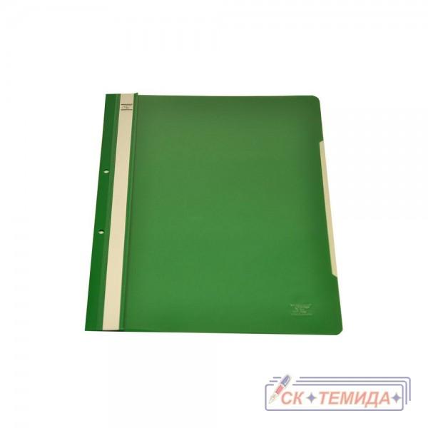 Папка PVC с перфорация зелена