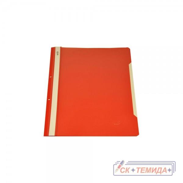 Папка PVC с перфорация червена