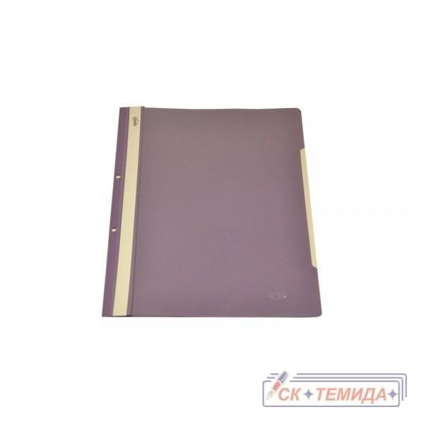 Папка PVC с перфорация лилава